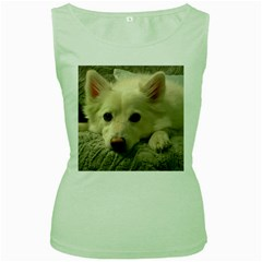 Niko Puppy Face Women s Green Tank Top by NikoTheEskie
