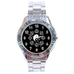 I Ching  Stainless Steel Analogue Watch by Valentinaart