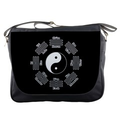 I Ching  Messenger Bags by Valentinaart