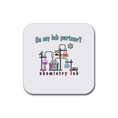 Chemistry Lab Rubber Square Coaster (4 Pack)  by Valentinaart