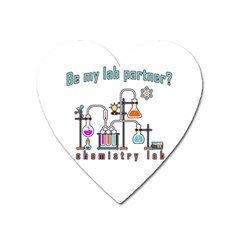 Chemistry Lab Heart Magnet by Valentinaart