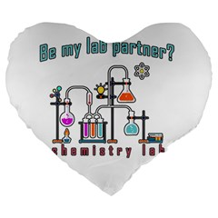 Chemistry Lab Large 19  Premium Heart Shape Cushions by Valentinaart