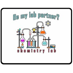 Chemistry Lab Double Sided Fleece Blanket (medium)  by Valentinaart
