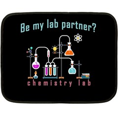 Chemistry Lab Double Sided Fleece Blanket (mini)  by Valentinaart