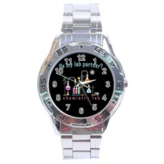 Chemistry Lab Stainless Steel Analogue Watch by Valentinaart