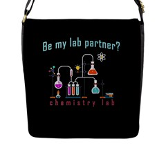 Chemistry Lab Flap Messenger Bag (l)  by Valentinaart