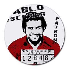 Pablo Escobar  Round Mousepads by Valentinaart