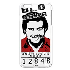 Pablo Escobar  Apple Iphone 6 Plus/6s Plus Enamel White Case by Valentinaart