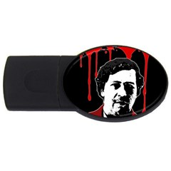 Pablo Escobar  Usb Flash Drive Oval (4 Gb) by Valentinaart