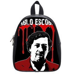 Pablo Escobar  School Bags (small)  by Valentinaart