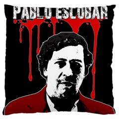Pablo Escobar  Large Cushion Case (one Side) by Valentinaart