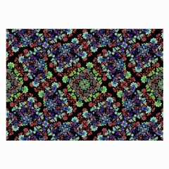 Colorful Floral Collage Pattern Large Glasses Cloth (2 Side) by dflcprints