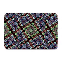 Colorful Floral Collage Pattern Plate Mats by dflcprints
