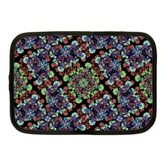 Colorful Floral Collage Pattern Netbook Case (medium)  by dflcprints