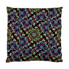 Colorful Floral Collage Pattern Standard Cushion Case (one Side) by dflcprints