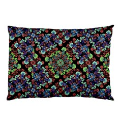 Colorful Floral Collage Pattern Pillow Case by dflcprints