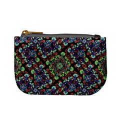 Colorful Floral Collage Pattern Mini Coin Purses by dflcprints