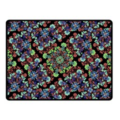Colorful Floral Collage Pattern Fleece Blanket (small) by dflcprints