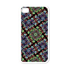 Colorful Floral Collage Pattern Apple Iphone 4 Case (white) by dflcprints