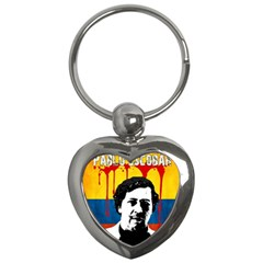 Pablo Escobar Key Chains (heart)  by Valentinaart