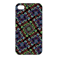 Colorful Floral Collage Pattern Apple Iphone 4/4s Hardshell Case by dflcprints