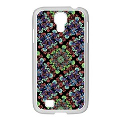 Colorful Floral Collage Pattern Samsung Galaxy S4 I9500/ I9505 Case (white) by dflcprints