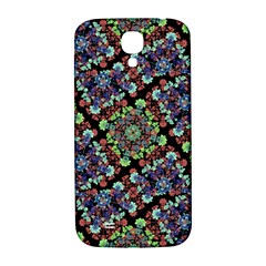 Colorful Floral Collage Pattern Samsung Galaxy S4 I9500/i9505  Hardshell Back Case by dflcprints