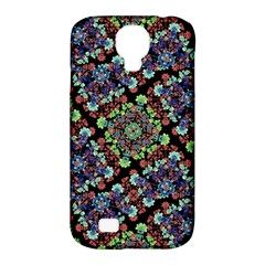 Colorful Floral Collage Pattern Samsung Galaxy S4 Classic Hardshell Case (pc+silicone) by dflcprints