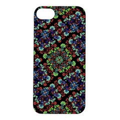Colorful Floral Collage Pattern Apple Iphone 5s/ Se Hardshell Case by dflcprints