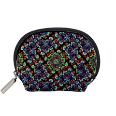 Colorful Floral Collage Pattern Accessory Pouches (small)  by dflcprints