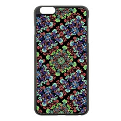 Colorful Floral Collage Pattern Apple Iphone 6 Plus/6s Plus Black Enamel Case by dflcprints