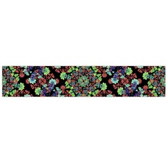 Colorful Floral Collage Pattern Flano Scarf (large)  by dflcprints