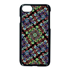 Colorful Floral Collage Pattern Apple Iphone 7 Seamless Case (black) by dflcprints