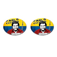 Pablo Escobar Cufflinks (oval) by Valentinaart
