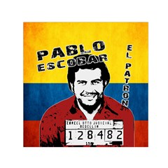 Pablo Escobar Small Satin Scarf (square) by Valentinaart