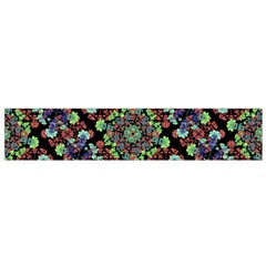 Colorful Floral Collage Pattern Flano Scarf (small) by dflcprintsclothing