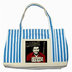 Pablo Escobar Striped Blue Tote Bag by Valentinaart