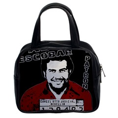 Pablo Escobar Classic Handbags (2 Sides) by Valentinaart