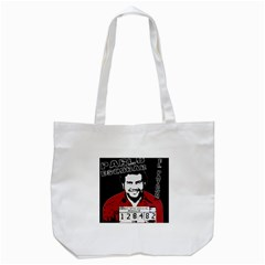 Pablo Escobar Tote Bag (white) by Valentinaart