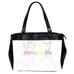 Dance Is Life Office Handbags (2 Sides)  by Valentinaart