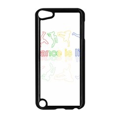 Dance Is Life Apple Ipod Touch 5 Case (black) by Valentinaart