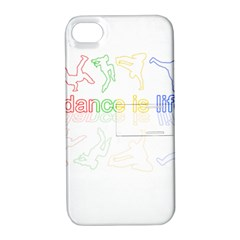 Dance Is Life Apple Iphone 4/4s Hardshell Case With Stand by Valentinaart