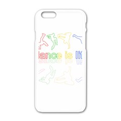 Dance Is Life Apple Iphone 6/6s White Enamel Case by Valentinaart