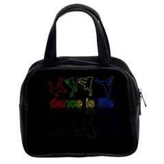 Dance Is Life Classic Handbags (2 Sides) by Valentinaart