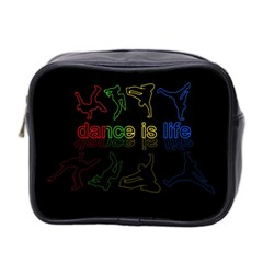 Dance Is Life Mini Toiletries Bag 2 Side by Valentinaart