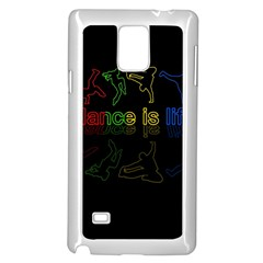 Dance Is Life Samsung Galaxy Note 4 Case (white) by Valentinaart