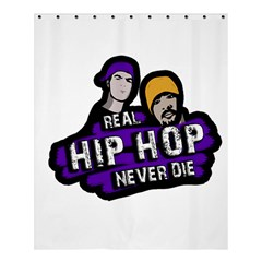 Real Hip Hop Never Die Shower Curtain 60  X 72  (medium)  by Valentinaart