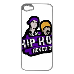 Real Hip Hop Never Die Apple Iphone 5 Case (silver) by Valentinaart