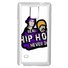 Real Hip Hop Never Die Samsung Galaxy Note 4 Case (white) by Valentinaart