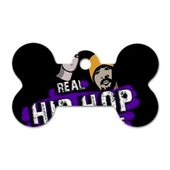 Real Hip Hop Never Die Dog Tag Bone (two Sides) by Valentinaart